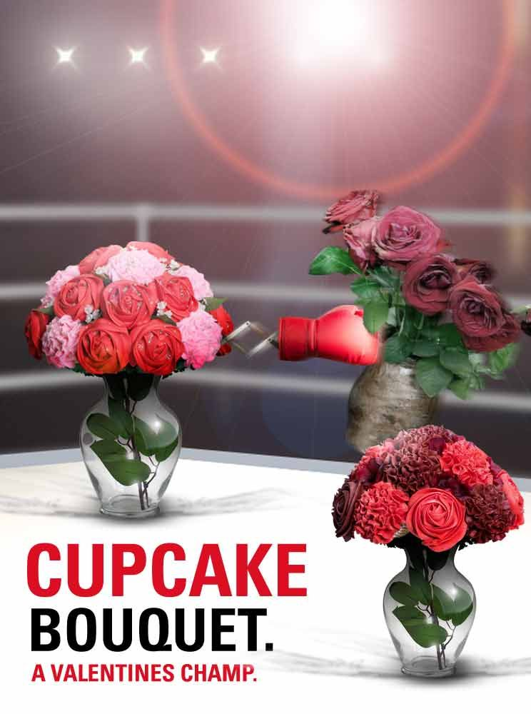 Baked Bouquet Flower Amp Cupcake Bouquets For Delivery